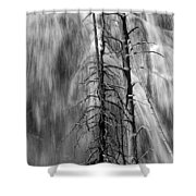 Gibbons Falls In Yellowstone National Park Shower Curtain