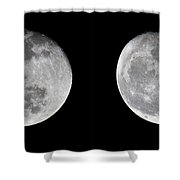 Gibbous Moon Shower Curtain