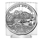 Gibraltar: Medal, 1727 Shower Curtain