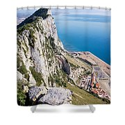 Gibraltar Rock And Mediterranean Sea Shower Curtain