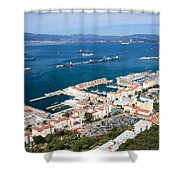Gibraltar Town And Bay Shower Curtain