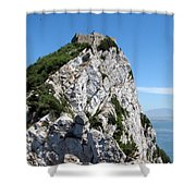 Gibraltar's Moorish Castle Shower Curtain