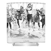 Gibson: Bathing, 1892 Shower Curtain