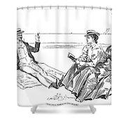 Gibson: Beach, 1900 Shower Curtain
