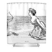 Big Game, 1900 Shower Curtain