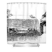 Gibson: Breakfast, 1898 Shower Curtain