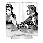 Cards, 1900 Shower Curtain