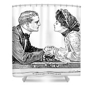 Chess Game, 1903 Shower Curtain