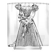 Gibson: Gibson Girl, 1897 Shower Curtain