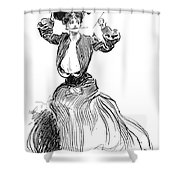 Gibson: Gibson Girl, 1904 Shower Curtain