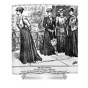 Gibson Girl, 1890s Shower Curtain