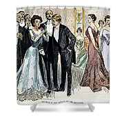 Gibson Girl, 1900 Shower Curtain