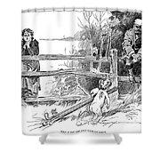 Gibson: Golf Game, 1895 Shower Curtain