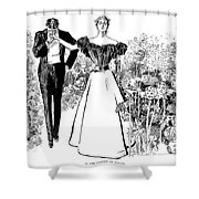 In Garden Of Youth Shower Curtain