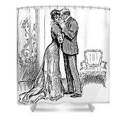 Kiss, 1903 Shower Curtain