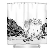 Gibson: Love Will Die, 1894 Shower Curtain