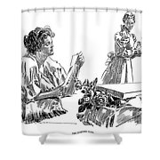 Gibson: Morning Note, 1898 Shower Curtain