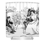 Gibson: Painting, 1901 Shower Curtain