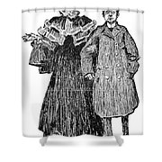 Gibson: Quarrel, 1906 Shower Curtain