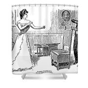Gibson: Warning, 1900 Shower Curtain