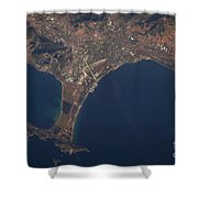 Giens Peninsula, France Shower Curtain