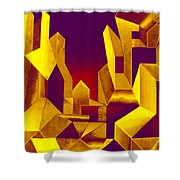 Gilded City  Shower Curtain