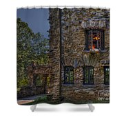 Gillette Castle Exterior Hdr Shower Curtain