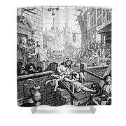 Gin Lane, William Hogarth Shower Curtain