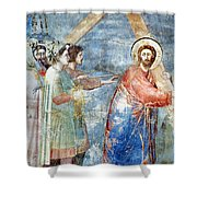 Giotto: Road To Calvary Shower Curtain