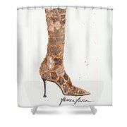 Giraffe Boot Shower Curtain