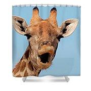 Giraffe Calling Shower Curtain