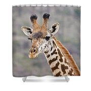 Giraffe Close-up Shower Curtain