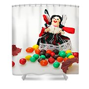Girl And Fall Shower Curtain