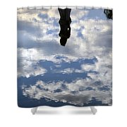 Girl And The Sky Shower Curtain