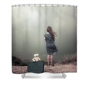 Girl In The Dunes Shower Curtain by Joana Kruse