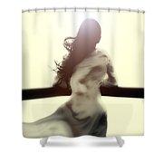 Girl In White Dress Shower Curtain