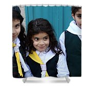 Girl Scouts At Orthodox Christmas Celebration Shower Curtain