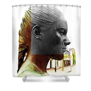Girl Statue Shower Curtain