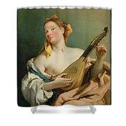 Girl With A Mandolin Shower Curtain