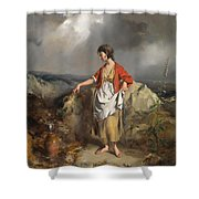 Girl With A Pitcher Shower Curtain by PF Poole