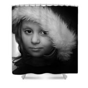 Girl With  Hat Shower Curtain