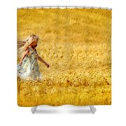 Girl With The Golden Locks Shower Curtain