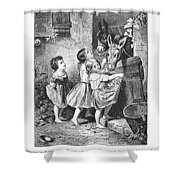 Girls And Donkeys, C1870 Shower Curtain