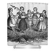Girls Playing, 1844 Shower Curtain