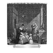 Girls Praying Shower Curtain