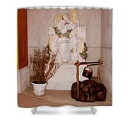 Give Her Flowers Shower Curtain