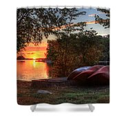 Give Me A Canoe Shower Curtain by Lori Deiter
