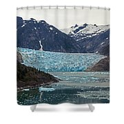 Glacial Bay And Ice Shower Curtain by Mike Reid