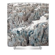 Glacial Crevasses Shower Curtain