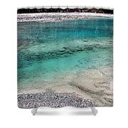 Glacial Pool Inn South New Zealand Shower Curtain